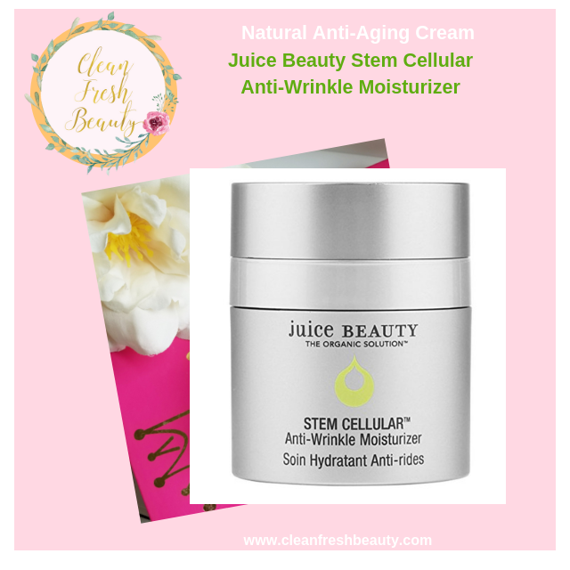 If you have deep wrinkles or looking with anti-aging natural products. You will love this Juice Beauty anti-wrinkle cream. Find more about natural anti-aging creams in this blog post. #greenbeauty #naturalskincare #antiaging #antiwrinkle
