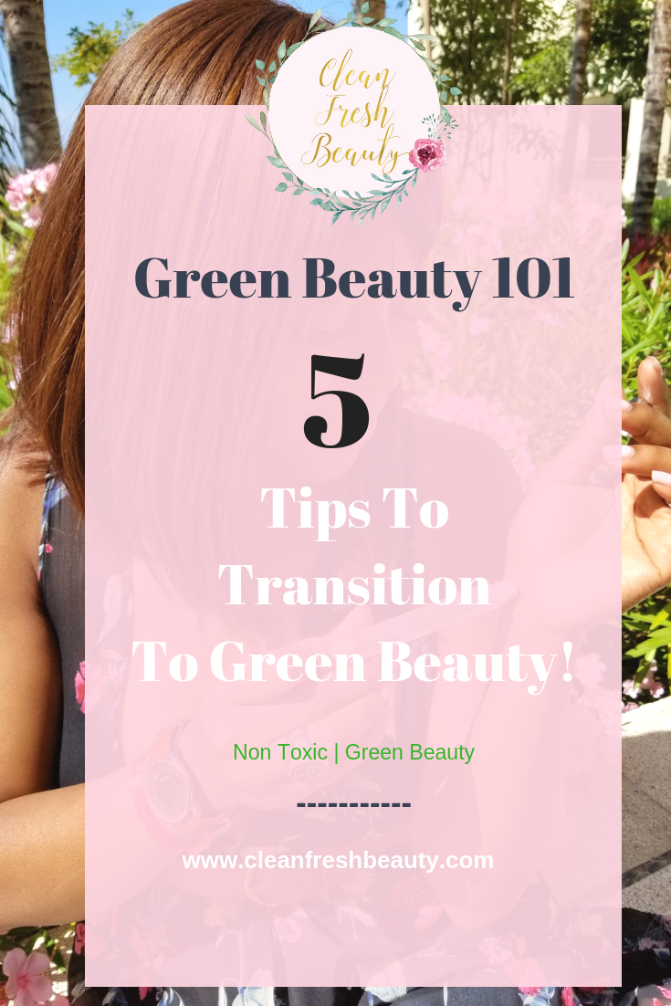 Thinking about Transitioning to Green Beauty? This blog post is all about a smooth transition to natural skin care products. This is an introductory you want to read about. Click to read more! #greenbeauty #organicbeauty #naturalproducts