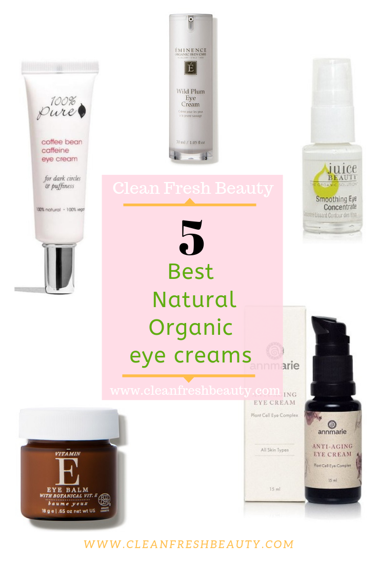 Looking for a natural eye cream to fight dark circles, wrinkles, crow's feet in under eyes? This blog post will help you find the right natural eye cream for you. Click to read more. #darkcircles #greenbeauty #eyecream #naturalproducts