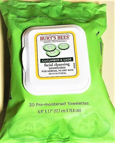 BURT'S BEES cucumber  & sage facial wipes - Organic and Natural Products