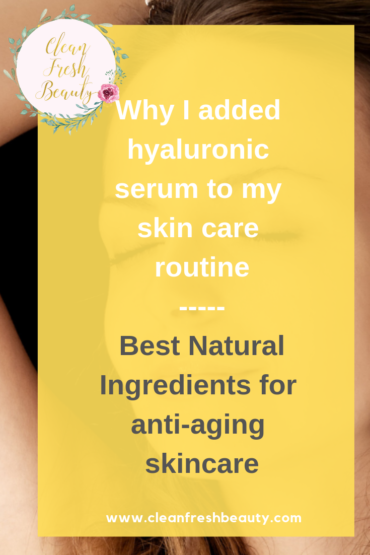 From Vogue, Allure, to Mindbodygreen there is so much praises about the skincare benefits of hyaluronic acid (HA). Hyaluronic acid has amazing anti-aging benefits. HA is a game changer. In this blog post, I share all about hyaluronic acid in the green beauty. If you don't have natural skin care products that contain hyluronic acid, you need to add products containing HA. Click to read more. #greenbeauty #antiaging #naturalbeauty #organicbeauty