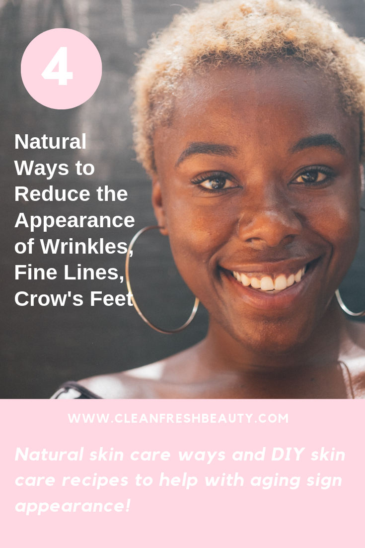 If you want to avoid botox? Try these 4 natural ways to help reduce the appearance of fine lines, wrinkles, and crow's feet. #greenbeauty #organicbeauty #naturalproducts #wrinkles