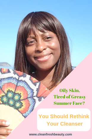 Oily skin can become so greasy and uncomfortable during summer. There are natural ways to deal with oily skin during summer. In this blog post, I share my tips and trick about dealing with oily skin naturally during summer. Click to read more #greenbeauty #organicbeauty #oilyskin #naturalproducts