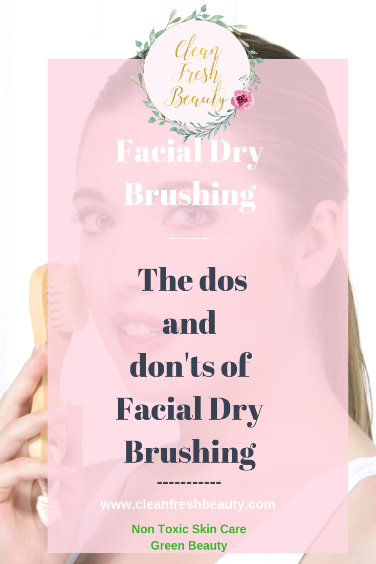 You probably heard about facial dry brushing. It has so many skin benefits. In this blog post, I share with you the benefits of facial dry brushing, the do's and don'ts of facial dry brushing and more. click to read and find out. #greenbeauty #facebrush #drybrushing #naturalproduct #naturalskincare