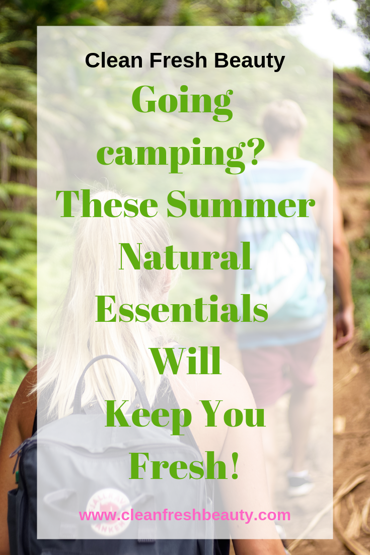 Going camping? These natural products will make your trip easier. #camping #nature #greenbeauty #tripinnature