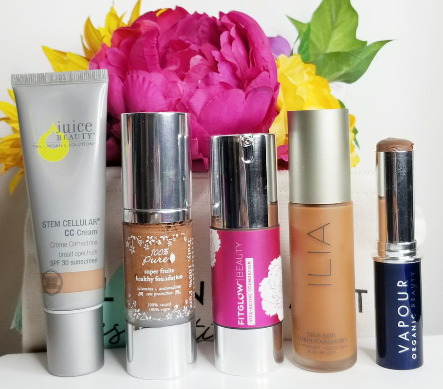 What natural non-toxic foundation is best for your skin type? Read this blog post to find the foundation that will work best with your skin type. All these foundation have also an option for dark skin tone. #darkskin #naturalcosmetics #nontoxic #foundation
