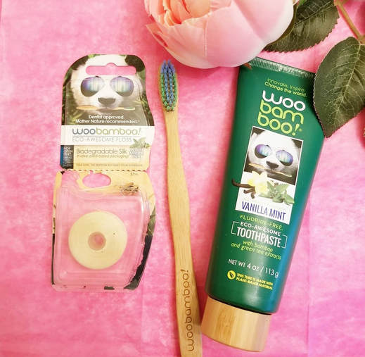 Eco-friendly Oral Care - Bamboo Toothbrush and silk natural floss