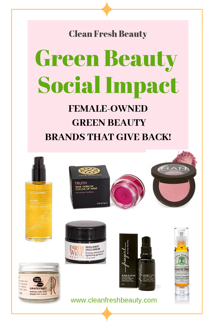 ​Can green beauty have a social consciousness side? If you are a green beauty lover who wants to go beyond giving Giving Tuesday, this article is just for you. You can make your money counts in big ways with these 7 women-owned green beauty brands #greenbeauty #natural Beauty #socialconscious #consciousliving