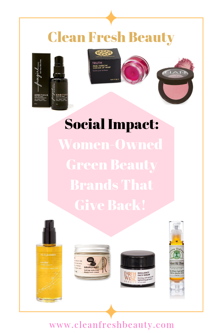 ​ If you are a green beauty lover who wants to go beyond giving Giving Tuesday, this blog post is just for you. You can make your money counts in big ways with these 7 women-owned green beauty brands; Can green beauty can have a social consciousness side. Increase your social impact footprint by supporting these green beauty brands. #socialconscious #consciousliving #naturalbeauty #organicbeauty #greenbeauty