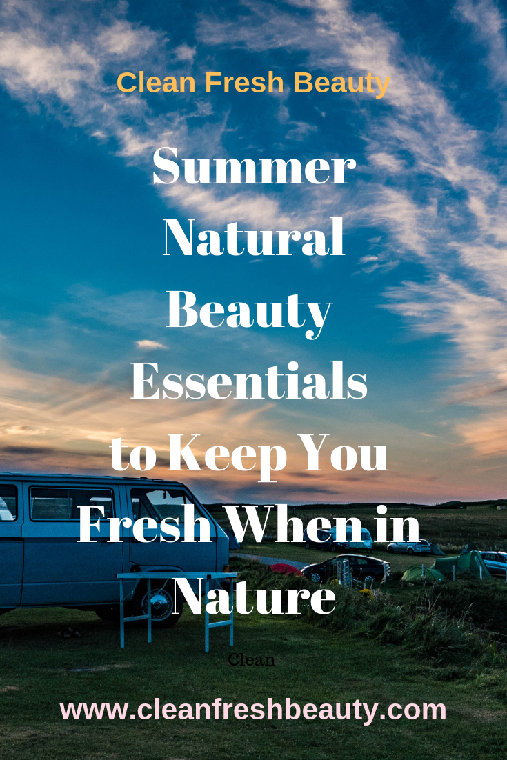 Wondering what natural products to bring on your camping trip or hike? If you are going to spend some time in nature, this blog post gives you natural products that will make your trip an easy one. #camping #nature #greenbeauty #tripinnature